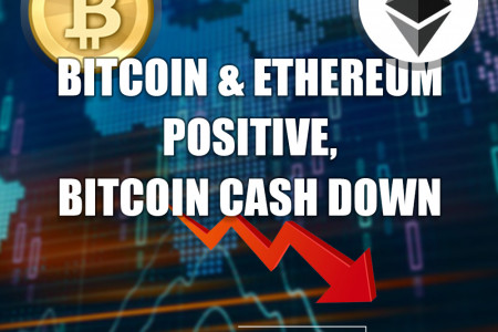 Bitcoin & Ethereum Positive, Bitcoin Cash Down Infographic