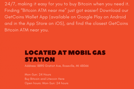 Bitcoin atm Roseville MICHIGAN Infographic
