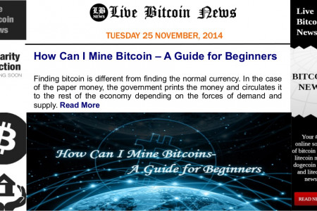 Bitcoin News and Discussions on Live Bitcoin News TUESDAY 25 NOVEMBER, 2014 Infographic
