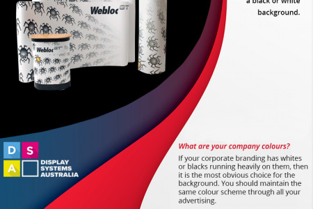 Black vs White Background Colours for Your Corporate Banner Infographic