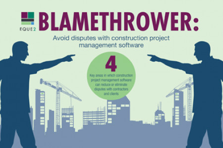 Blamethrower: Avoid Disputes With Construction Project Management Software Infographic