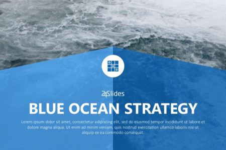 Blue Ocean Strategy PowerPoint Template | Free Download  Infographic