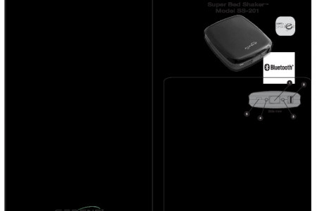 Bluetooth Bed Shaker Alarm Clock Compatible with Iphone Only Infographic