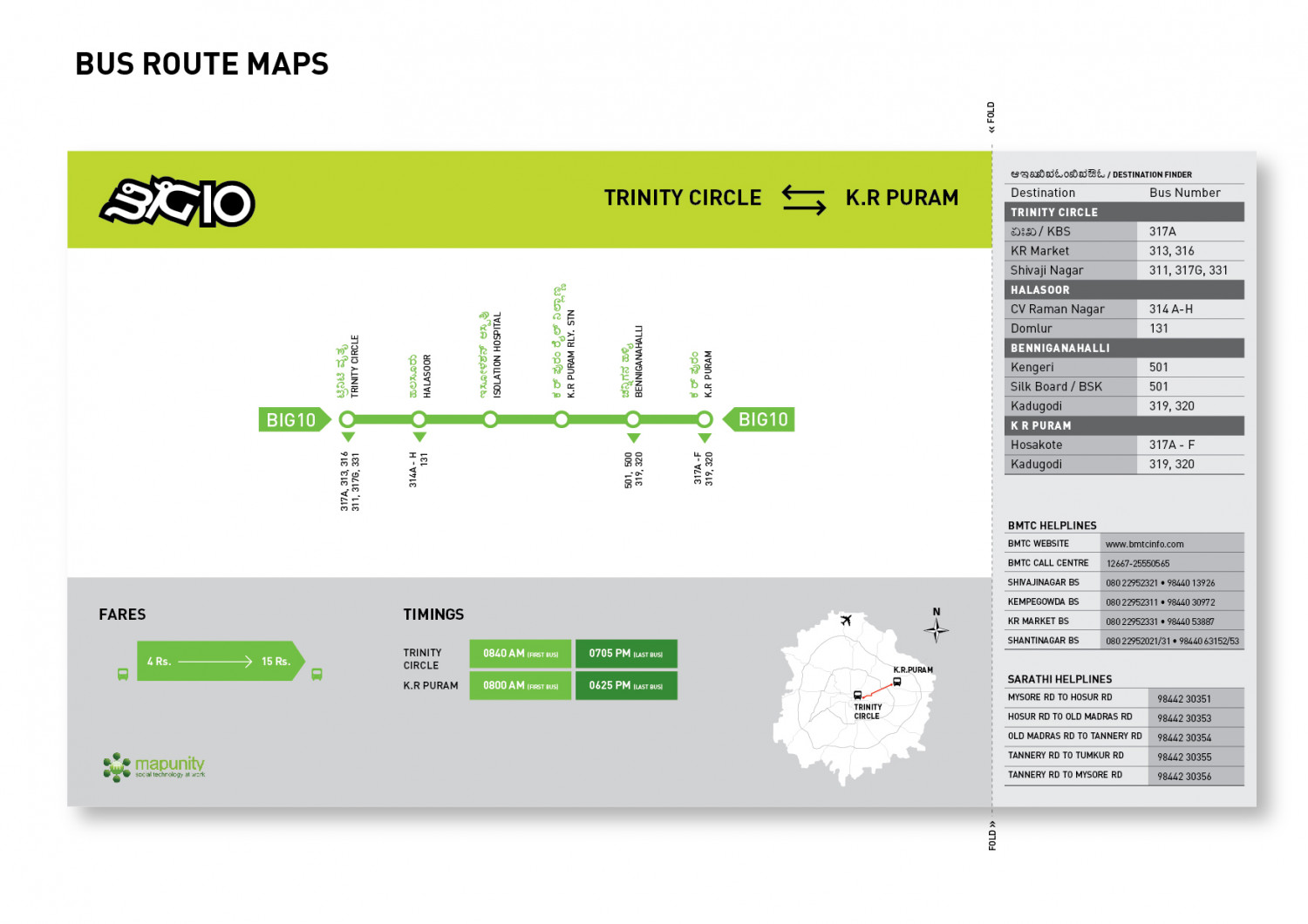 BMTC bus route maps Infographic