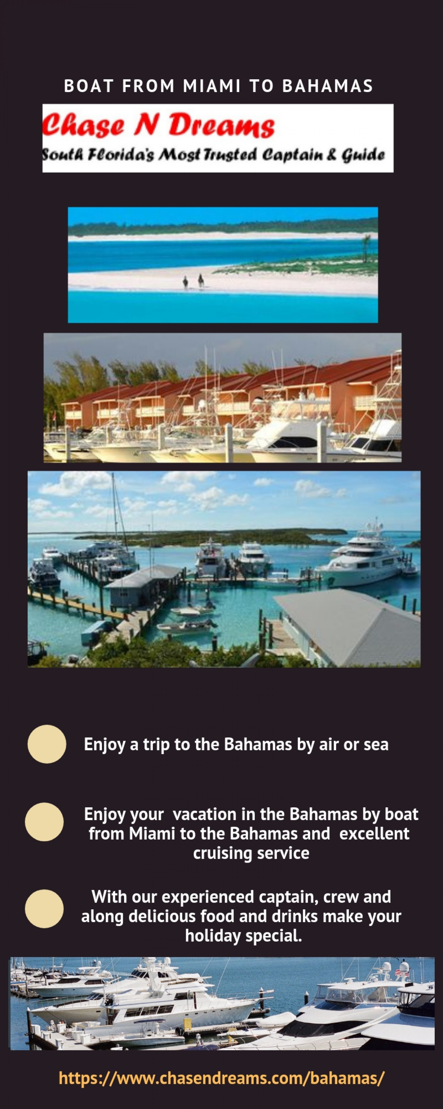 Boat From Miami To Bahamas Infographic