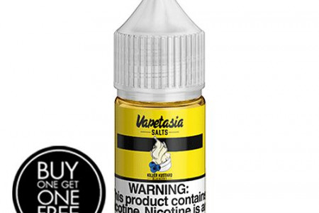 *BOGO* Killer Kustard Blueberry by Vapetasia Salts 30ml Infographic