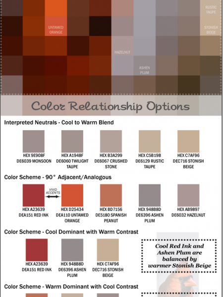 Bold Winter Color Palette Infographic