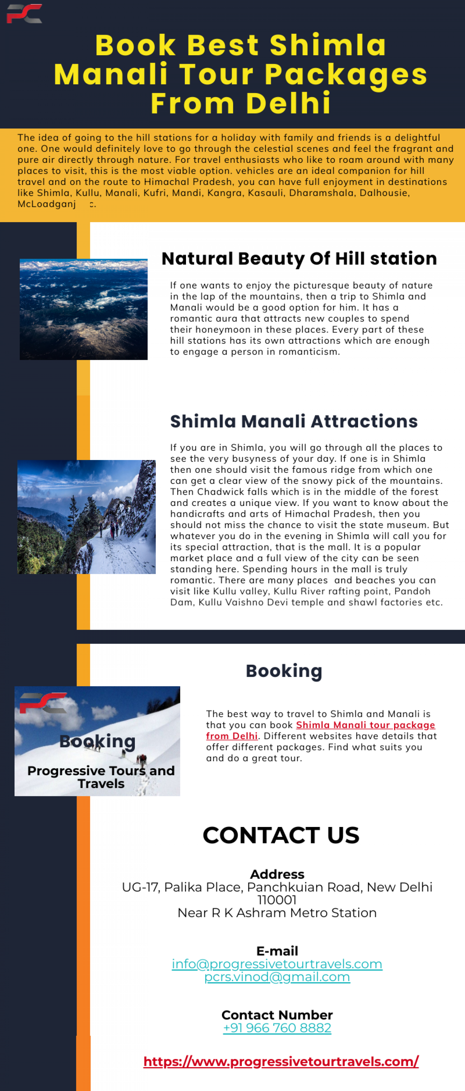 Book Best Shimla Manali Tour Packages From Delhi  Infographic
