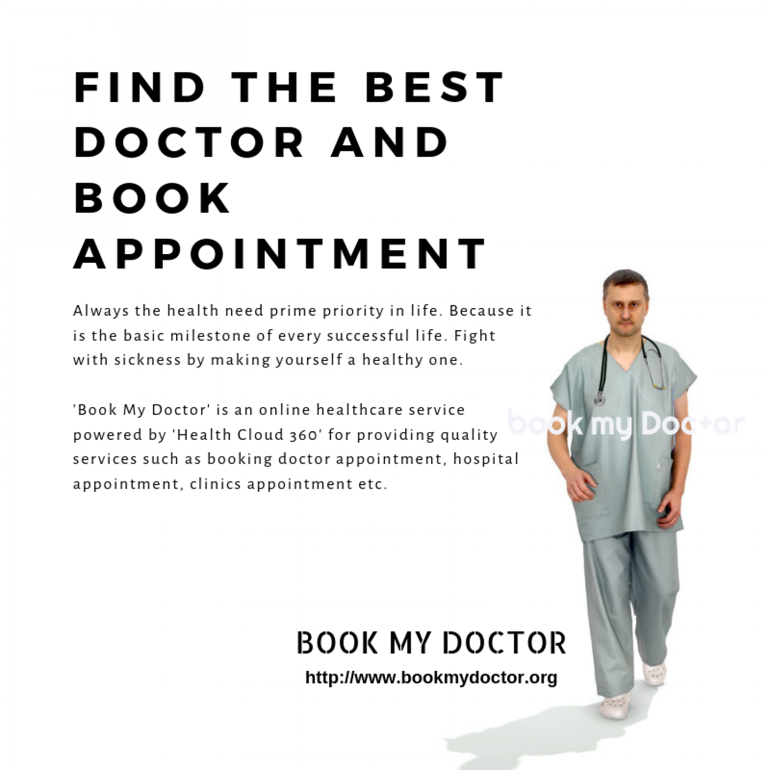 Book My Doctor: The quick way to book doctor appointment Infographic