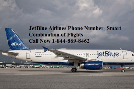 Book Tickets & Reservations with JetBlue Airways 1-844-869-8462 Infographic