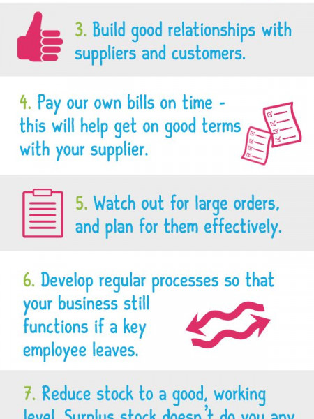 8 Top Tips to Grow Your Business & Boost Cash Flow Infographic