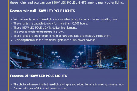 Boost Your Outdoor Ambiance by 150W LED Pole Lights Infographic