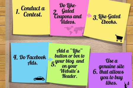 Boosting Likes - Guide to get Facebook likes Infographic