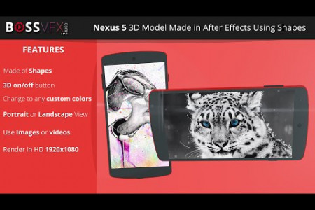 Nexus 5 3D Model After Effects Template Infographic