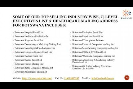Botswana Business Email List | B2B Botswana Executives Mailing Database Infographic