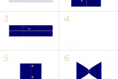 bow tie napkin fold infographic