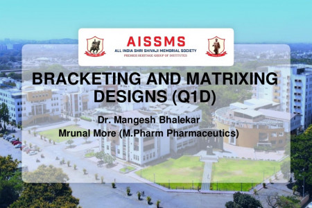 Bracketing and matrixing designs (Q1D) AISSMS College Of Pharmacy Infographic