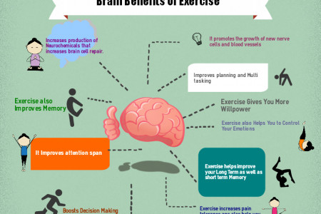 Brain Benefits Of Exercise Infographic
