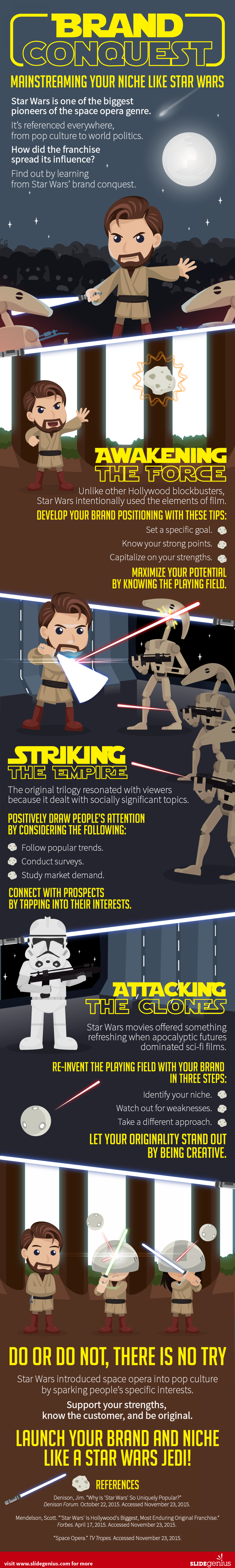 Brand Conquest: Mainstreaming Your Niche Like Star Wars Infographic