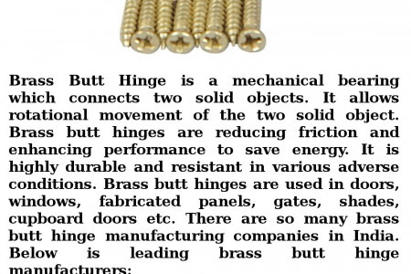 Brass Butt Hinge Manufacturing Companies in India Infographic
