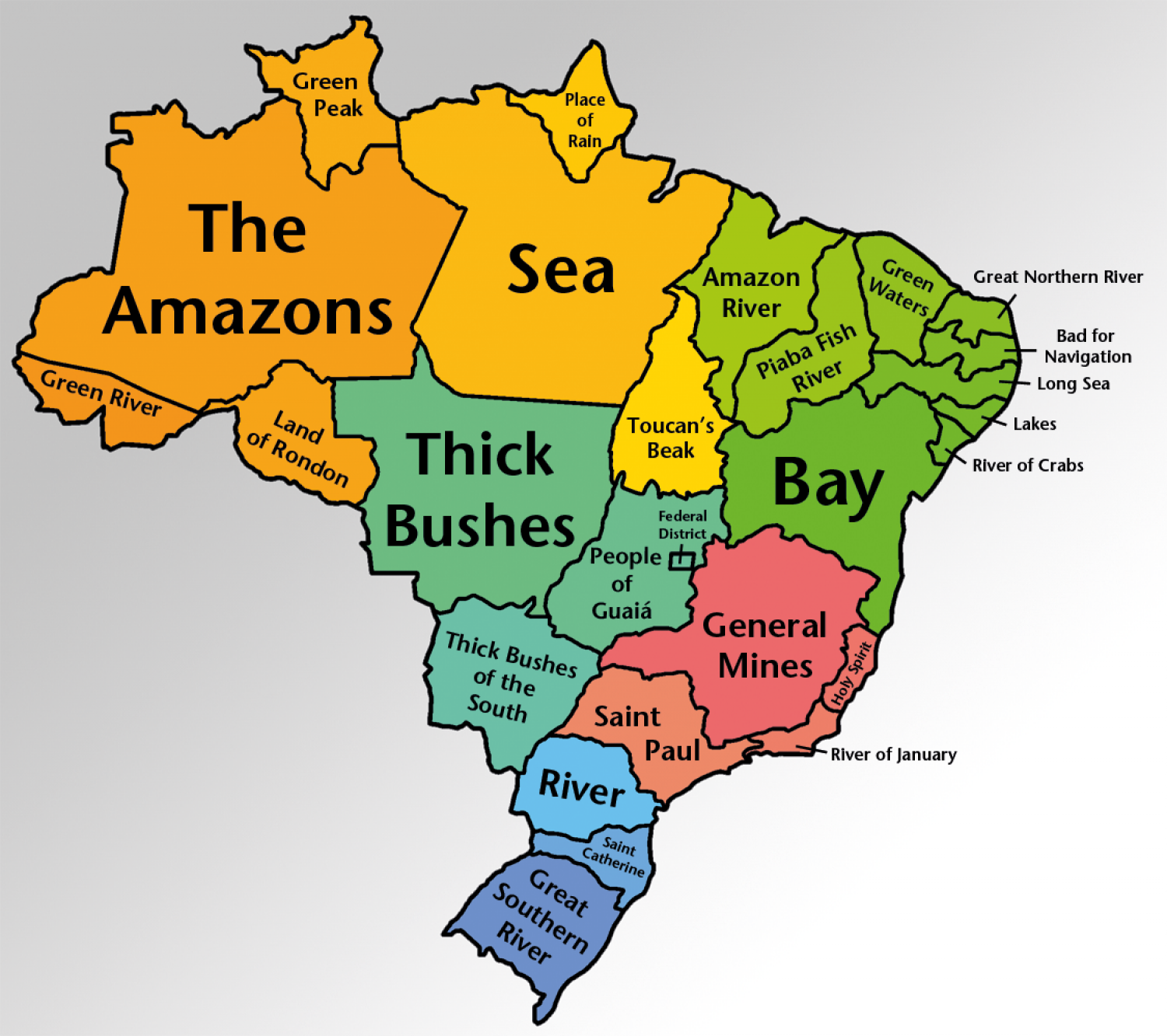 northern states names. brazilian state names translated infographic northern states t
