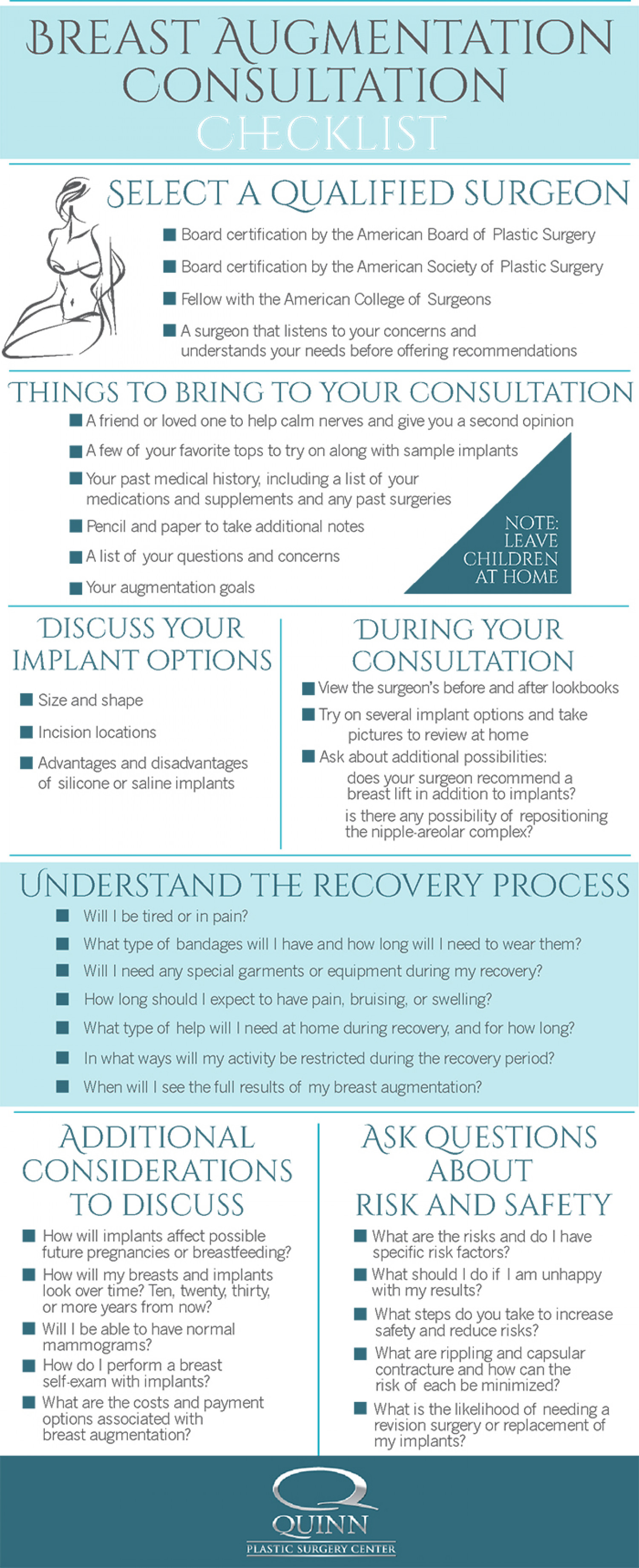 Breast Augmentation Checklist Infographic