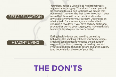 Breast Augmentation Recovery Do's and Don'ts Infographic