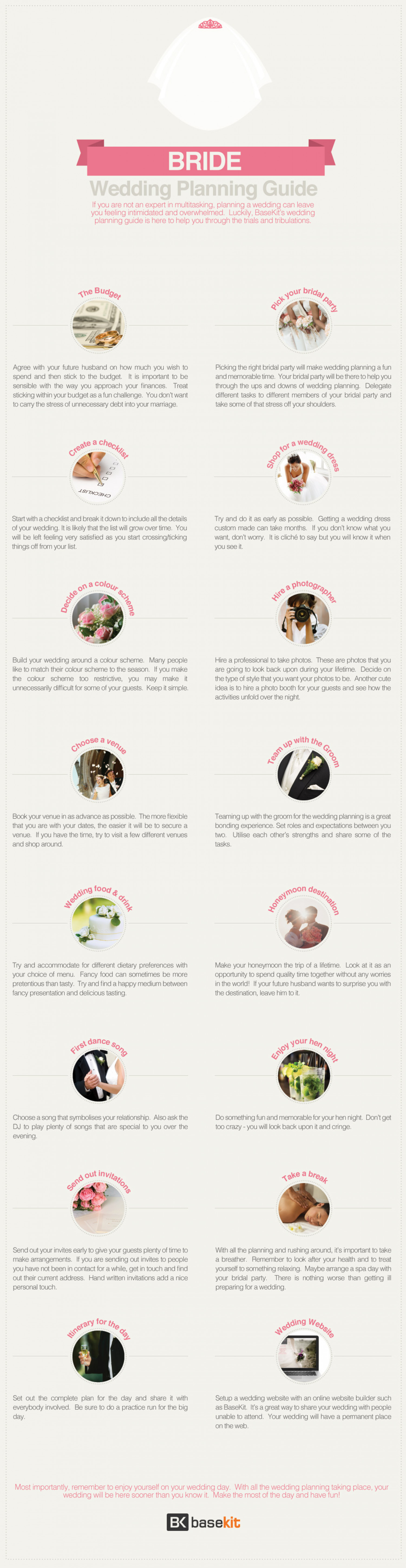 Bride's Guide To Wedding Planning Infographic