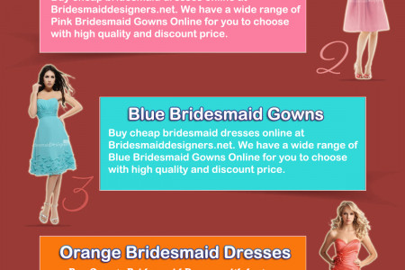 Bridesmaid Designers Presents Top 5 Bridesmaid Dresses  Infographic