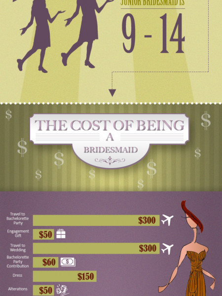 Bridesmaids by the Numbers Infographic