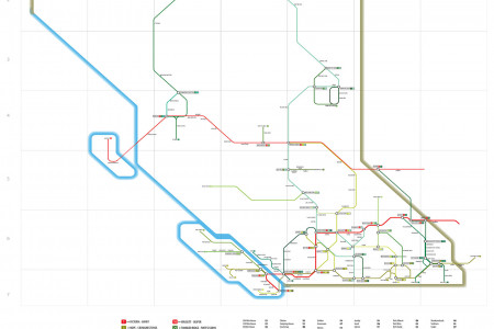 British Columbia's Highway System as a Subway Map Infographic