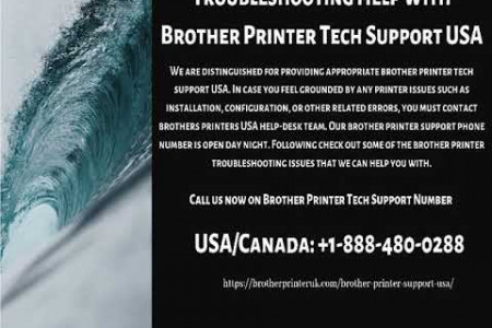 Brother Printer Support USA | Dial +1-888-480-0288 Infographic