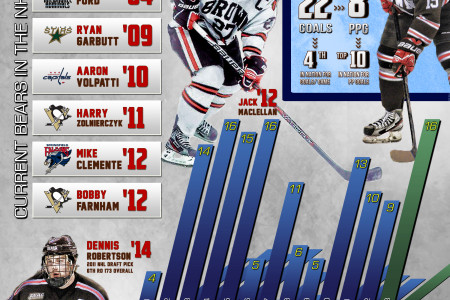 Brown Men's Ice Hockey Infographic