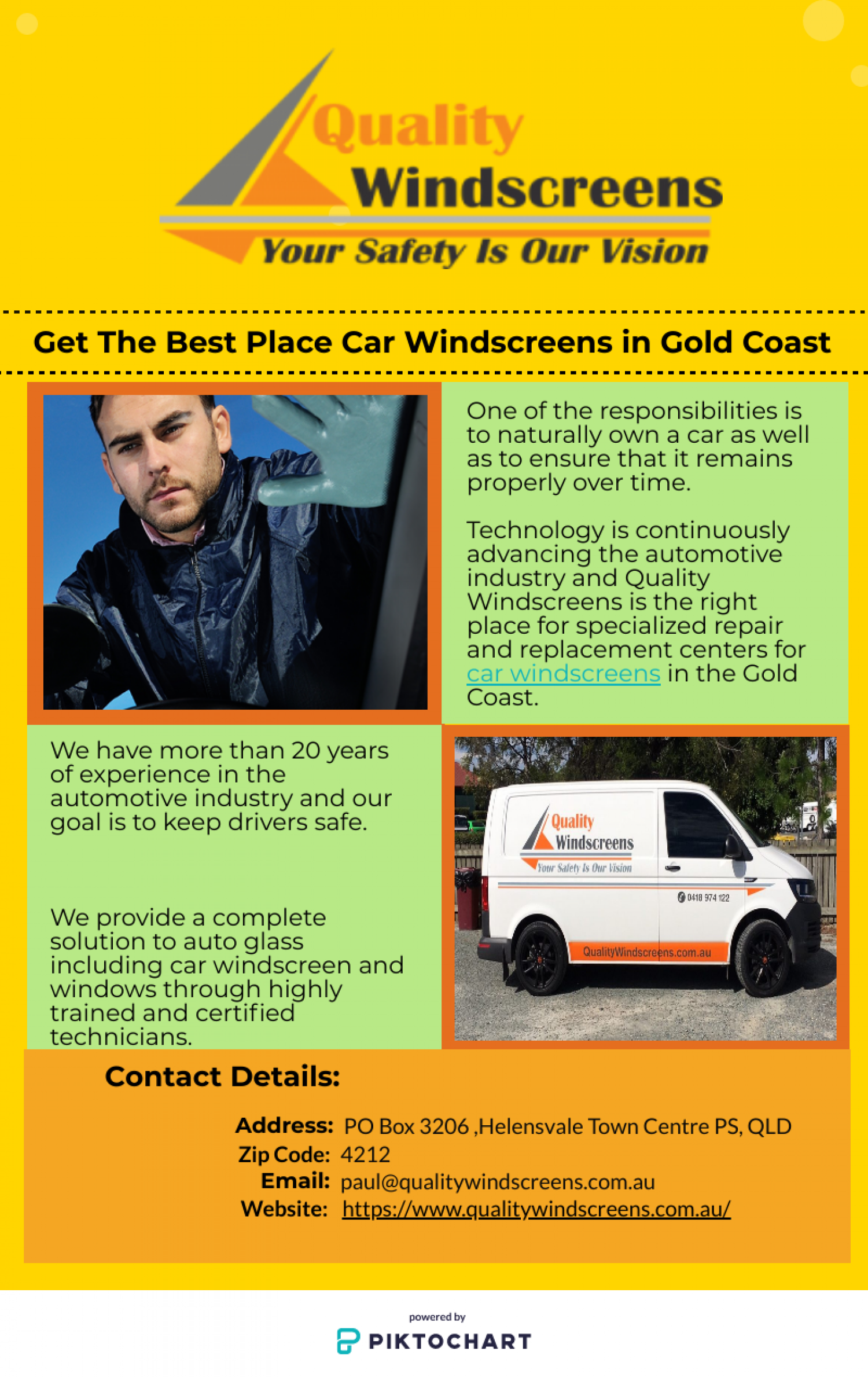 Browse Our Standard Mobile Windscreen Replacement In Gold Coast Infographic