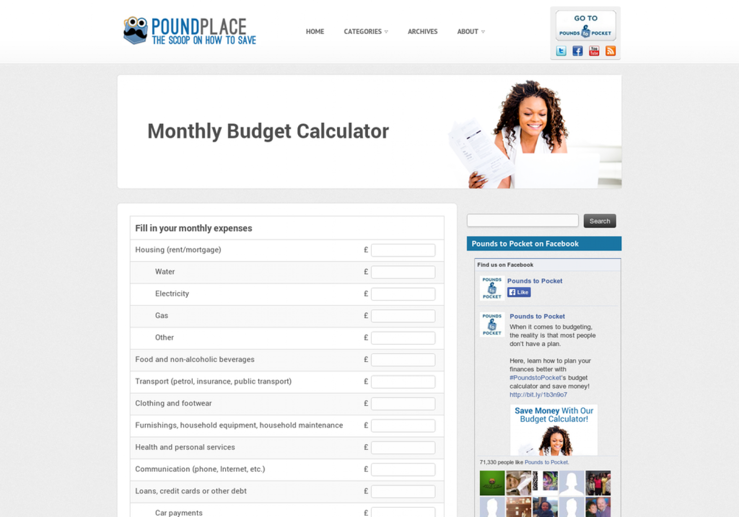 Budget Calculator Infographic