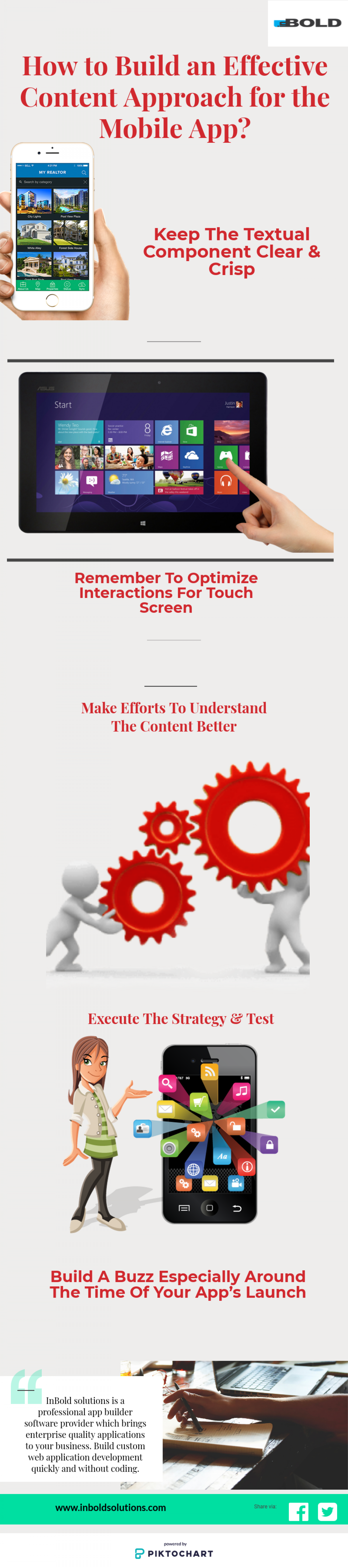 Build an Effective Content Approach for the Mobile App Infographic