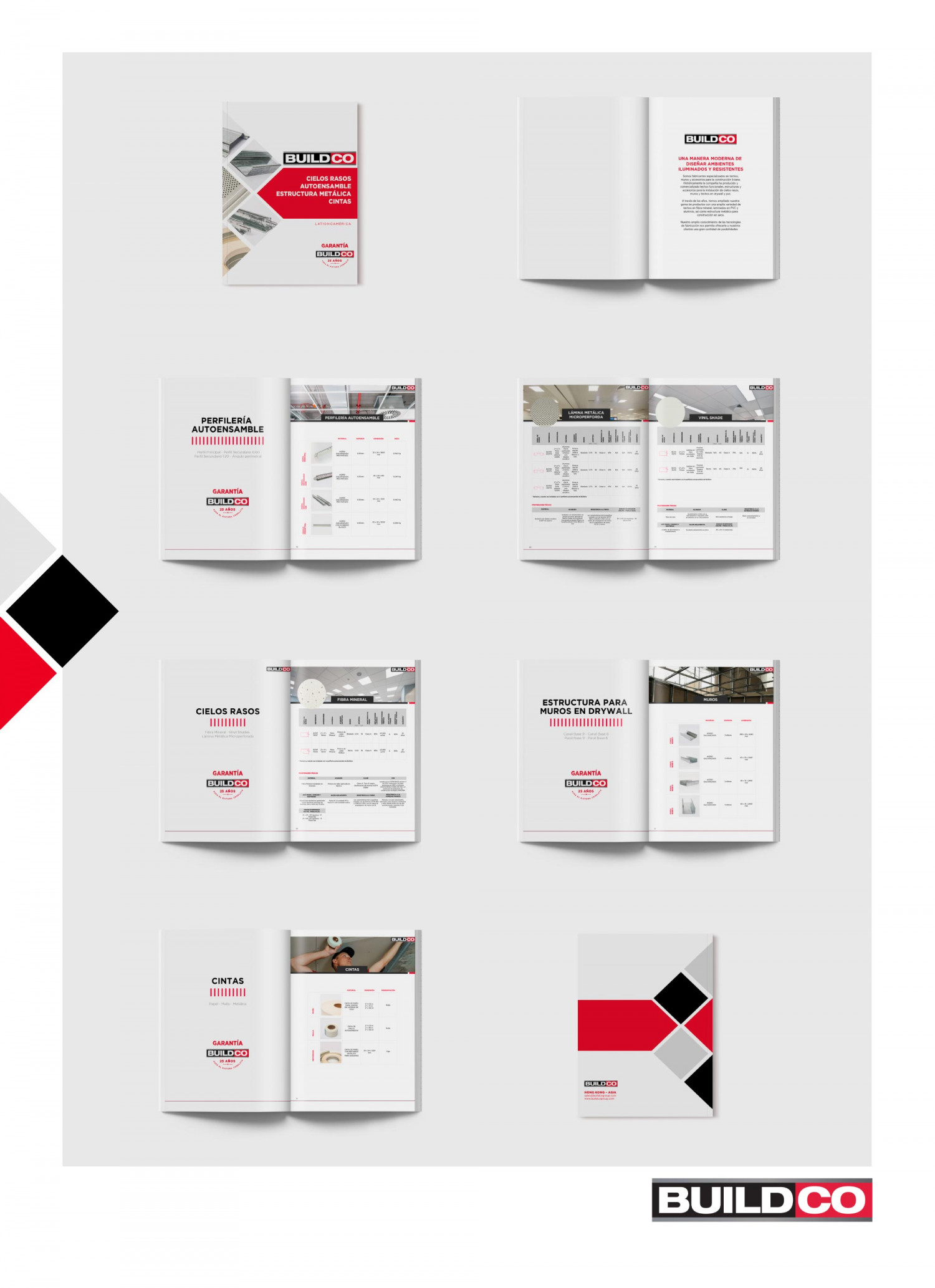 BuildCo Product Catalogue Design and Product Photography Infographic