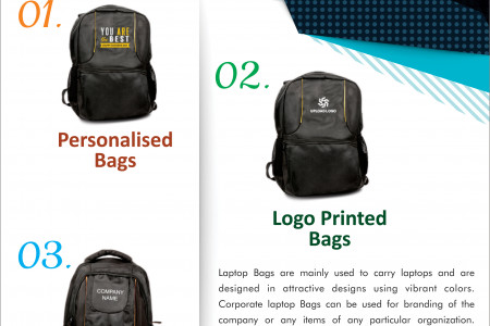 Bulk Laptop Bags - Buy Promotional and Corporate Laptop Bags with Logo Printed Online in India Infographic