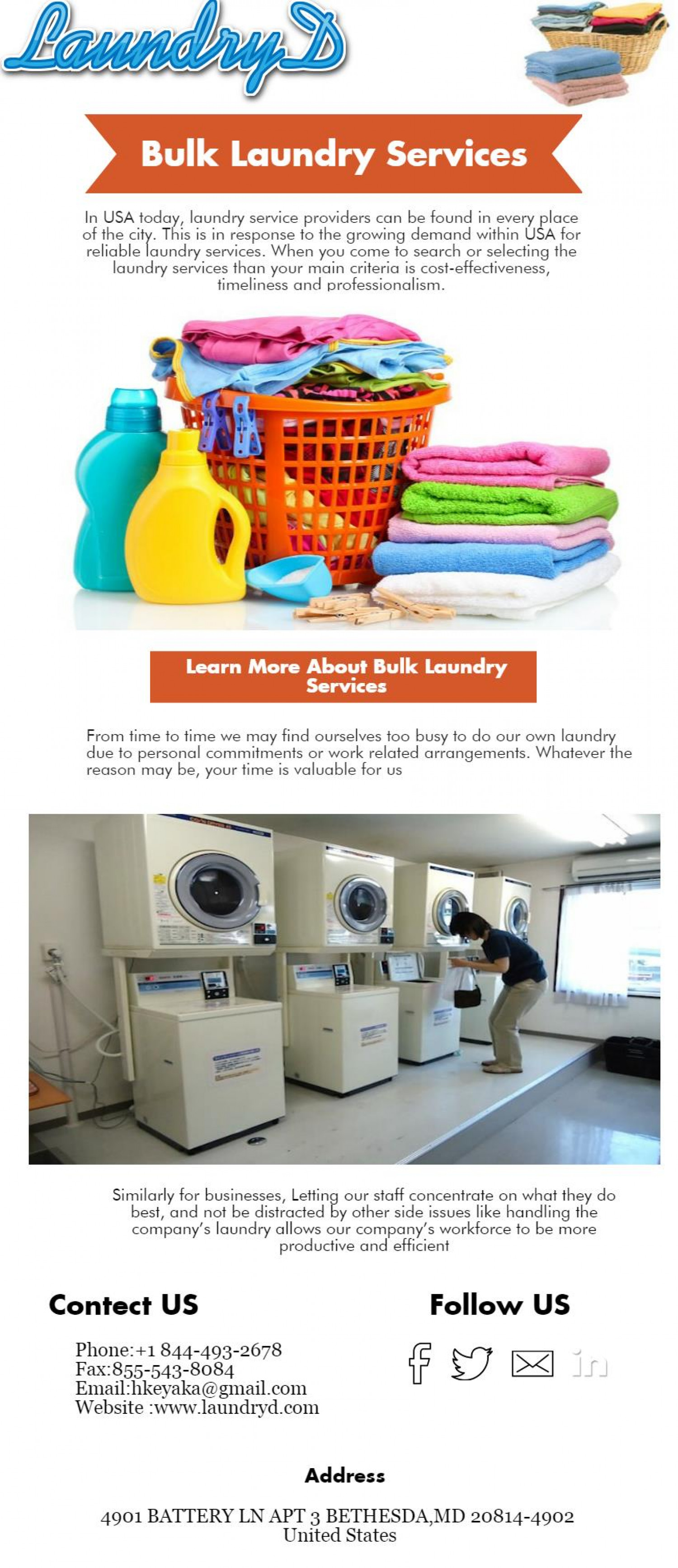 Bulk Laundry Services in USA Infographic
