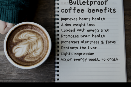 Bulletproof Coffee Recipe Benefits Infographic