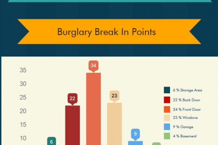 Burglary Facts & Break In Points Infographic