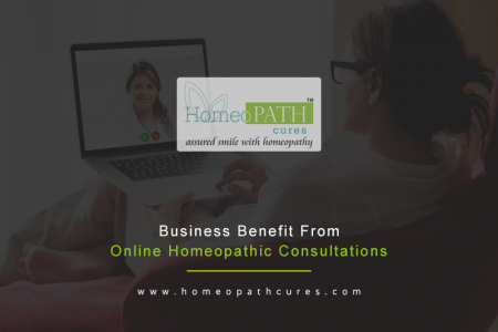 Business Benefits from Online Homeopathic Consultation Infographic