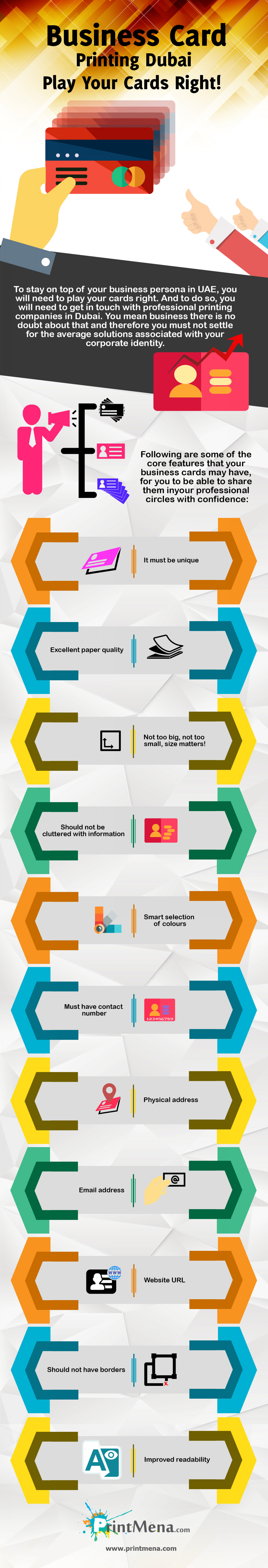 Business Card Printing Dubai, Play Your Cards Right Infographic