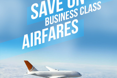 Business Class Airfares Infographic