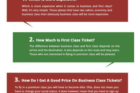 Business Class Vs First Class Infographic