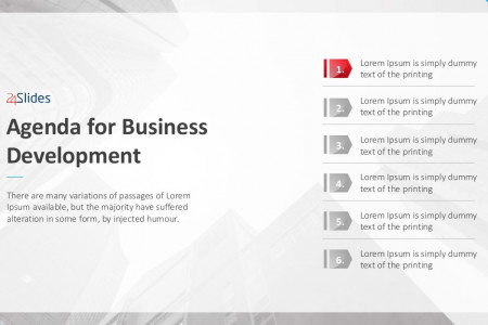 Business Development Agenda Template | Free Download Infographic