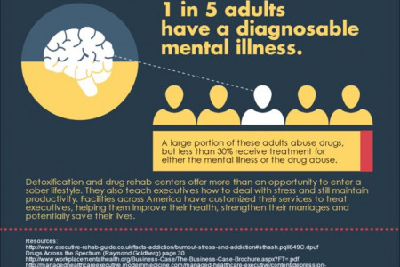 Business Executives and Mental Health Issues 2 Infographic
