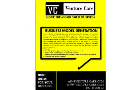 Business Model Generation | Venture Care Infographic