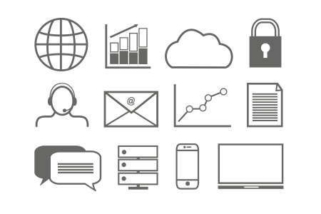 Business Technology Icons Infographic