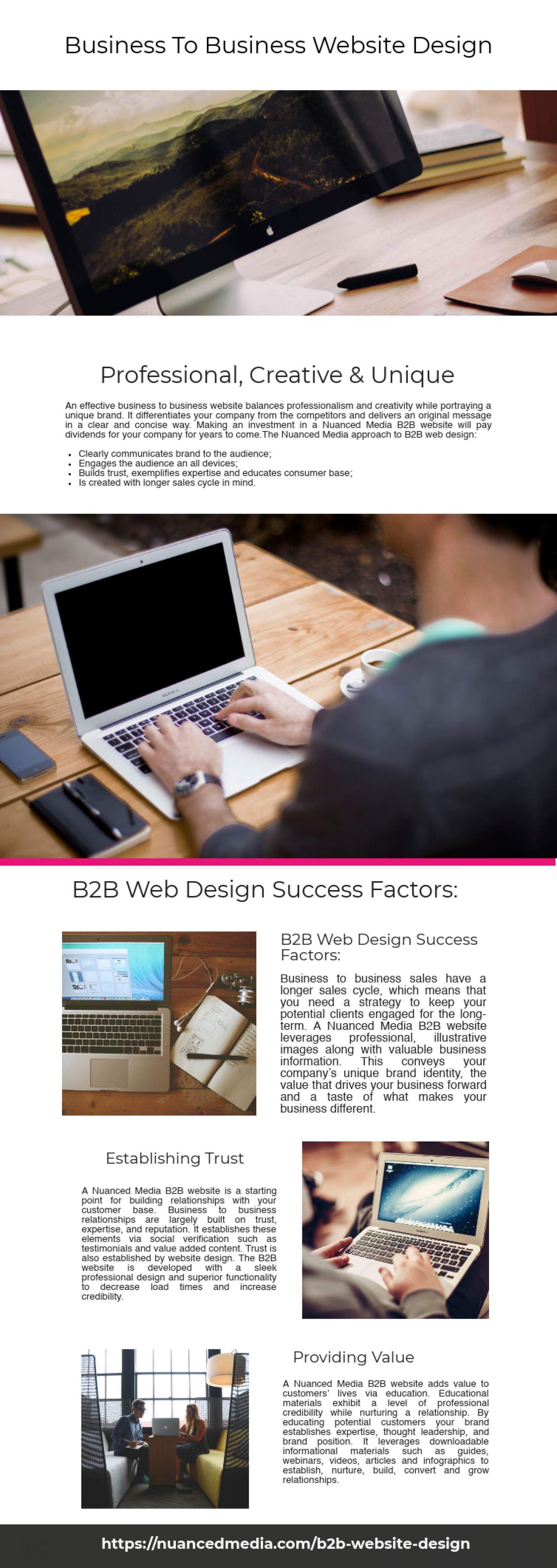 Business To Business Website Design Infographic